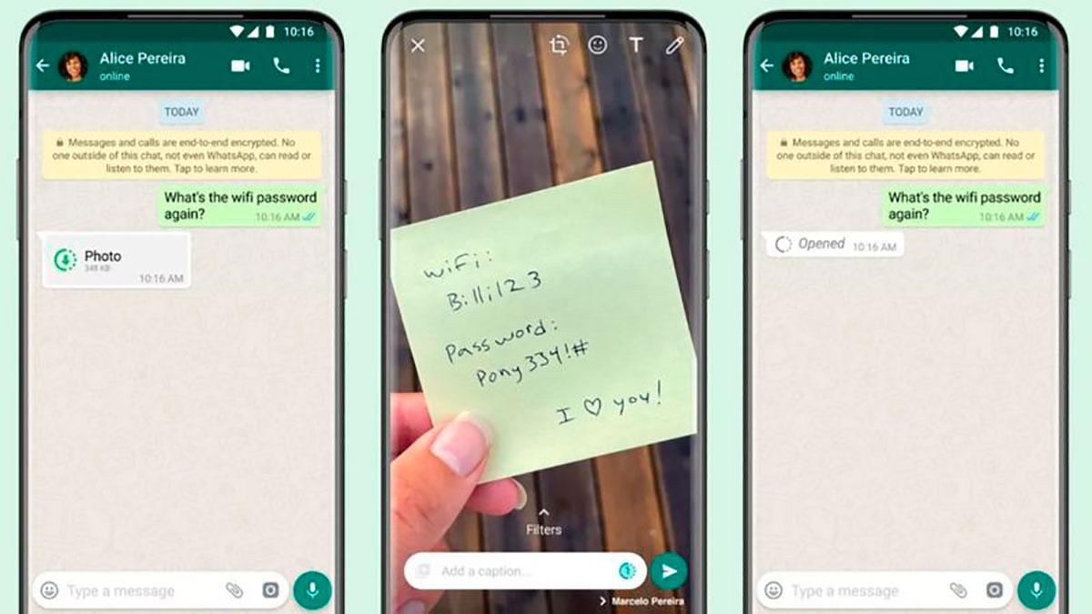 WhatsApp: cómo funciona el nuevo servicio de la aplicación que hace desaparecer fotos y videos