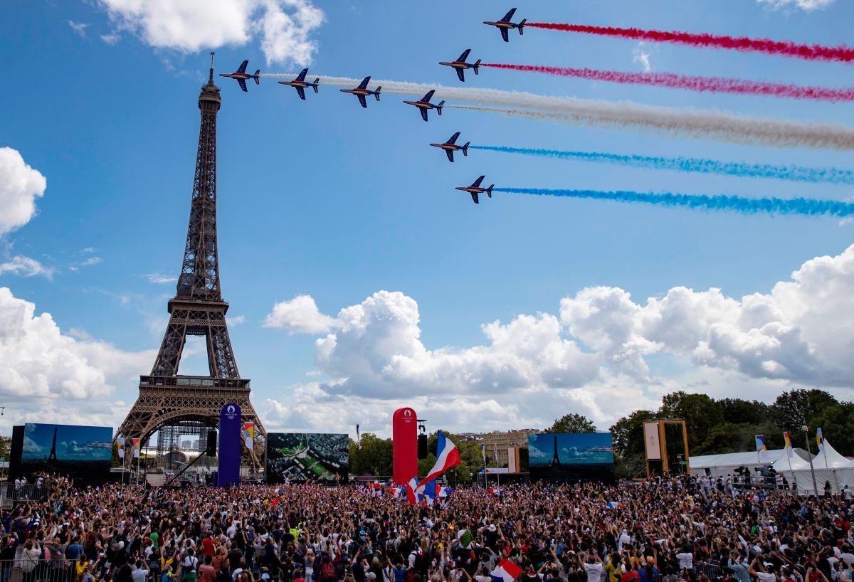 La ceremonia de París que dio la bienvenida a los Juegos Olímpicos 2024.