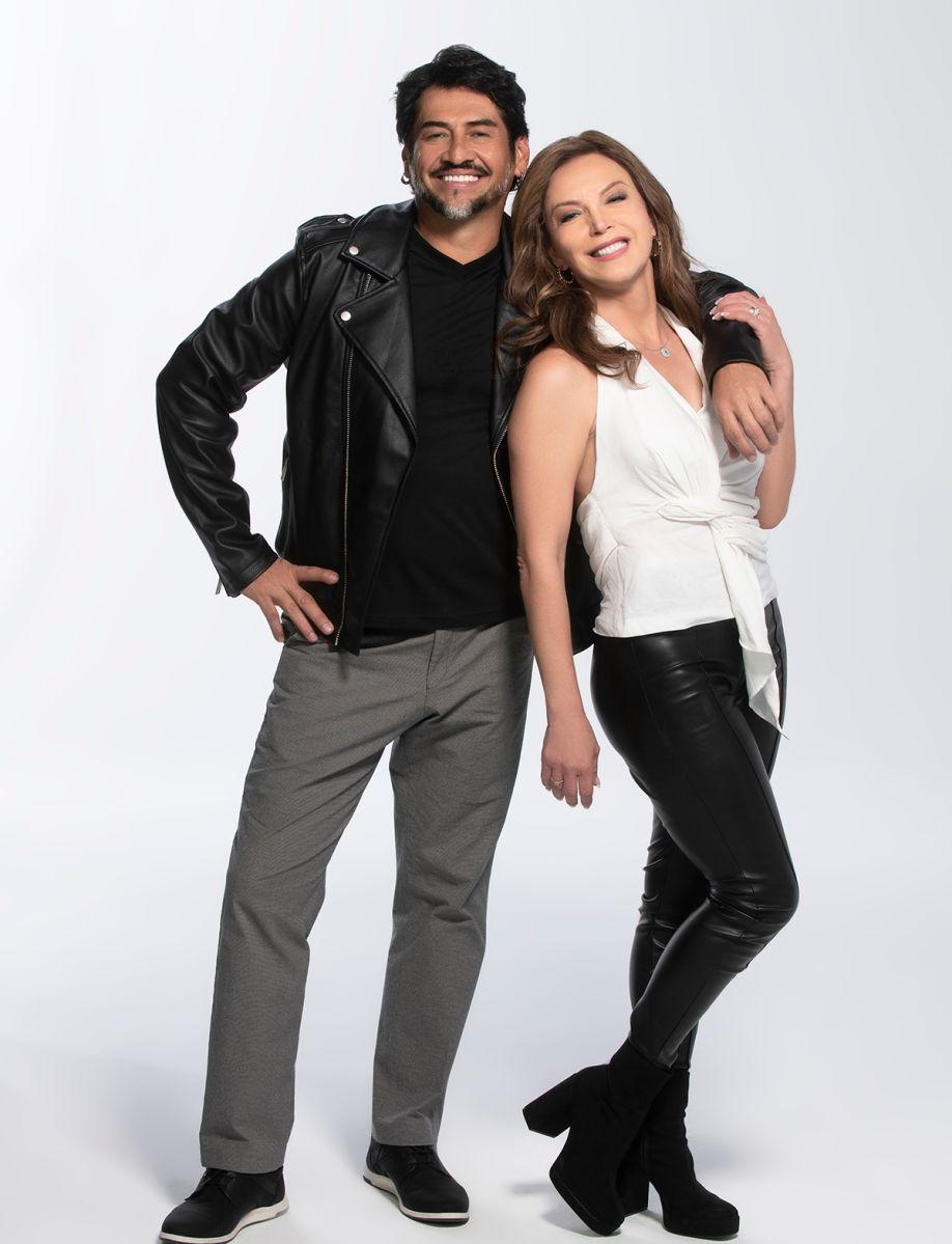Gabriel Porras y Laura Flores en 'Así se Baila'. Foto: Telemundo