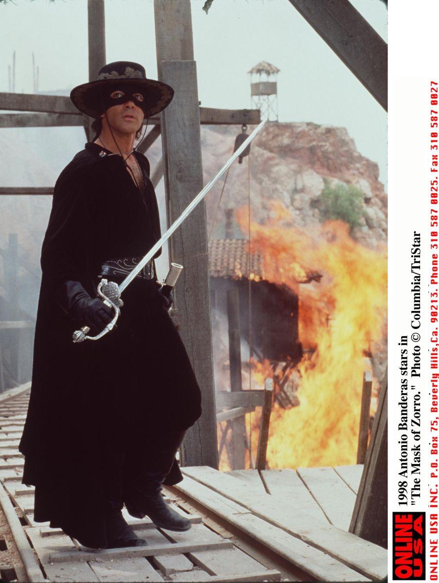 """Antonio Banderas protagonizó """"El Zorro"""""""