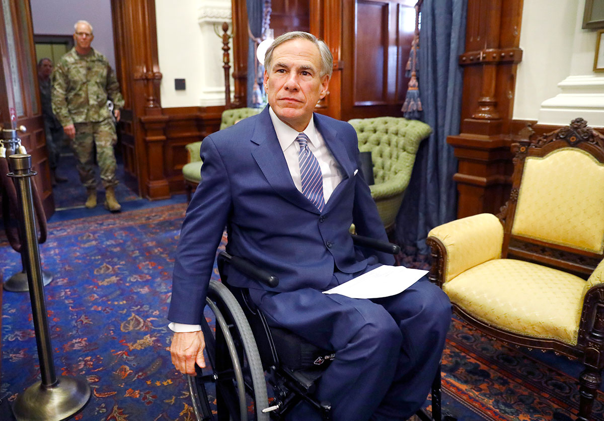 El gobernador Greg Abbott.