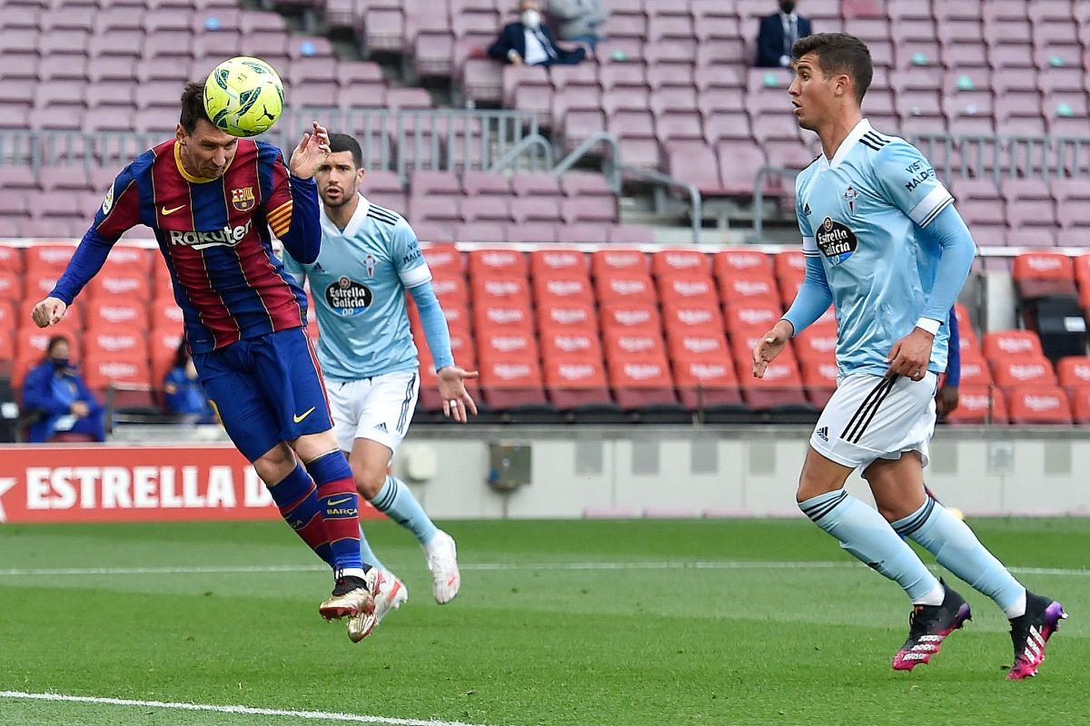 Lionel Messi marcó en la derrota 1-2 del Barcelona frente al Celta de Vigo.