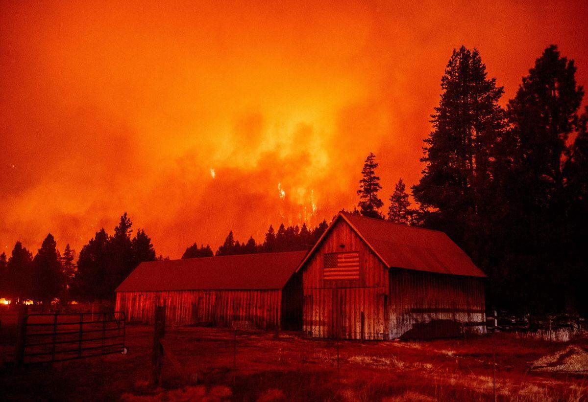 El fuego ha arrasado en los alrededores de Lake Tahoe.