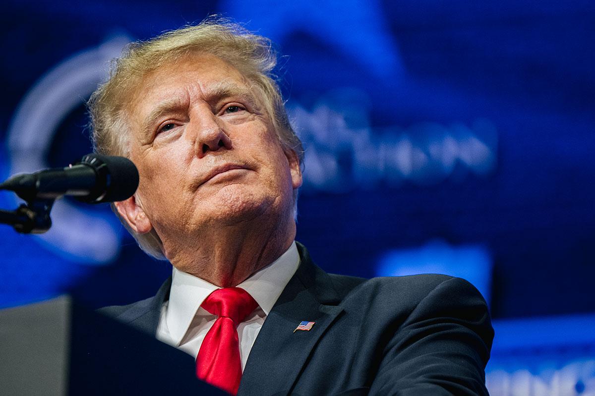 El expresidente Donald Trump es el político del Partido Republicano que más dinero lleva recaudado en 2021.