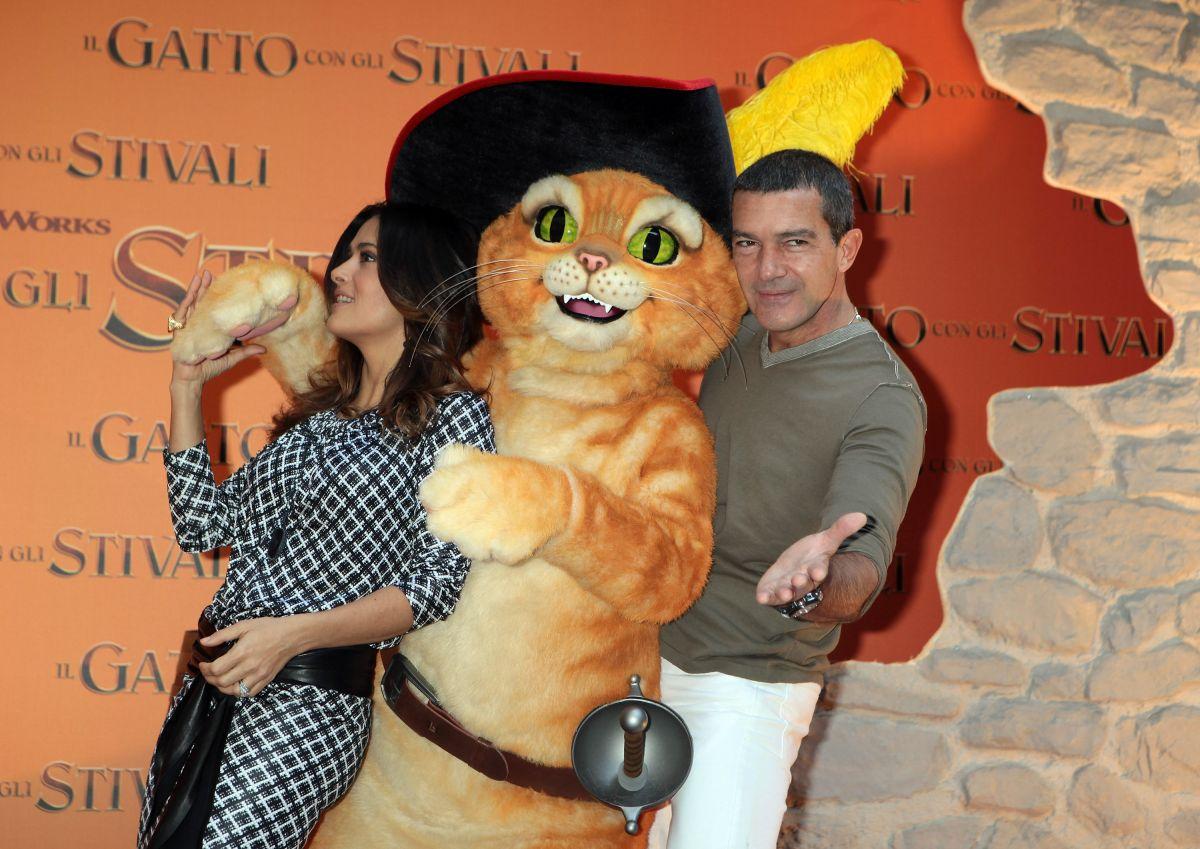 """Antonio Banderas protagonizó """"El Gato con Botas"""""""