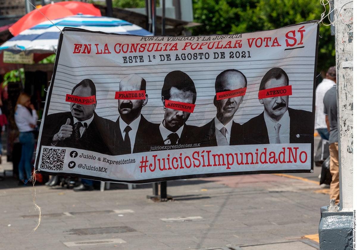 México realiza Consulta Popular para enjuiciar a expresidentes.