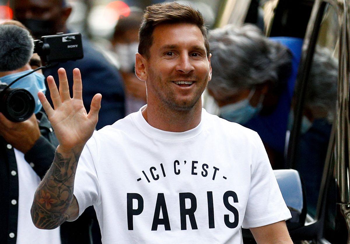Messi fue presentado por el PSG este martes.