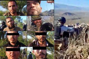VIDEO: Sicarios del Mayo Zambada se grababan y detienen a 9 con arsenal en zona fronteriza