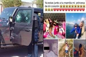 """""""Ya estás con tu mamita mi princesa de mi corazón"""", mamá y su hija son asesinadas por sicarios ligados a los Chapitos"""