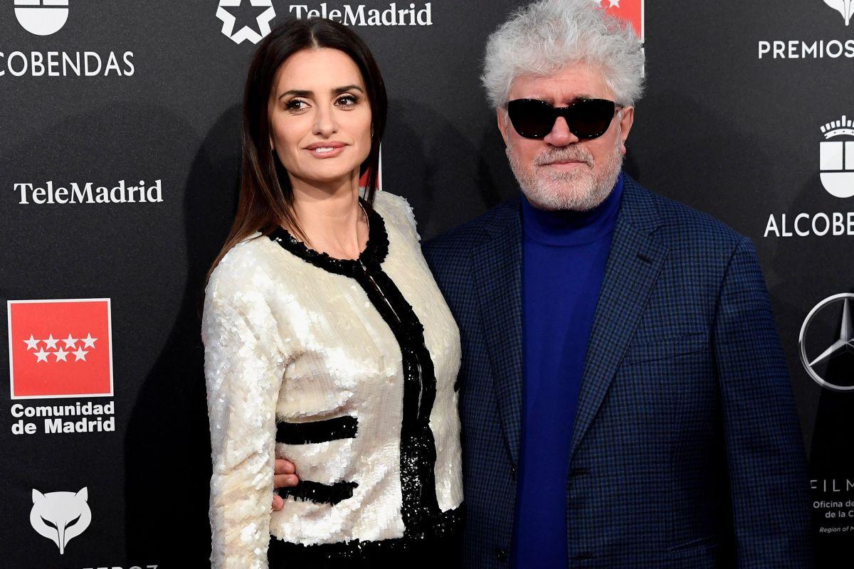 La actriz Penélope Cruz y el director Pedro Almodóvar.