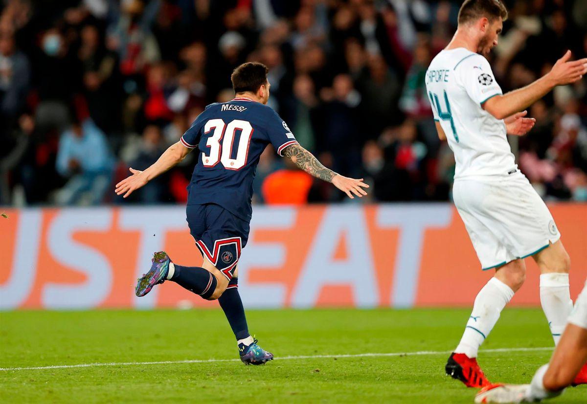 Con  un esplendido contra ataque al minuto 73 el astro argentino consumó su primer tanto.
