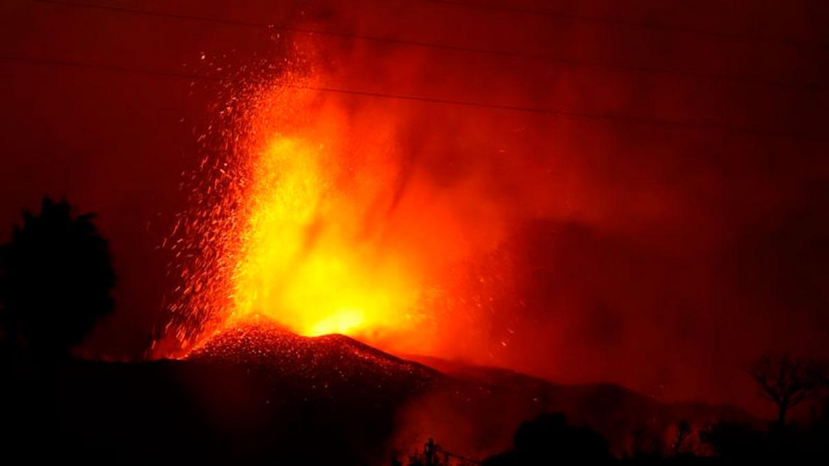 La erupción del volcán Cumbre Vieja.