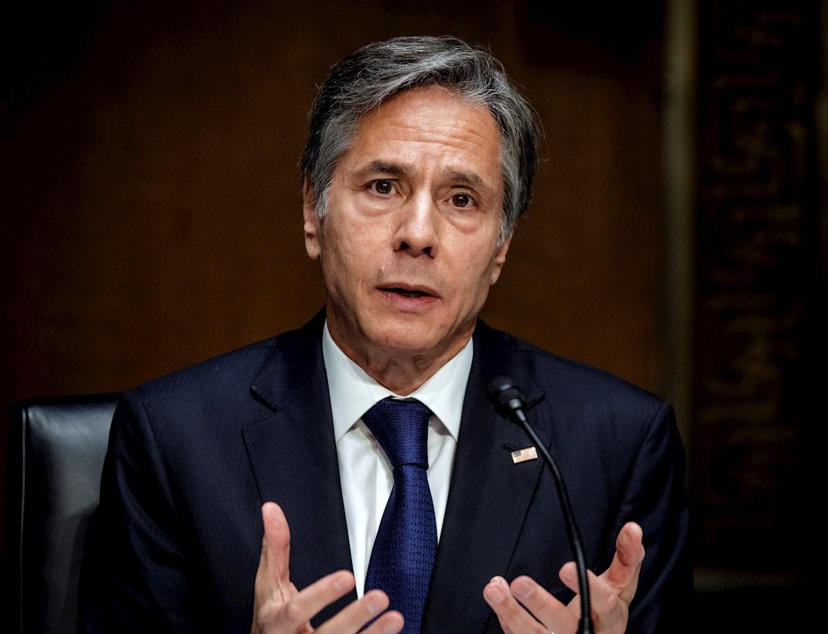 """El secretario de Estado, Antony Blinken, lamentó este martes en un comunicado que Nicaragua esté entrando en una """"nueva era oscura"""" del mano de Daniel Ortega."""