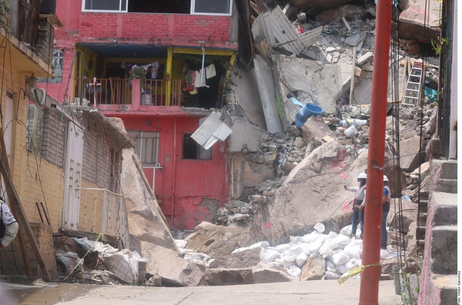 Derrumbe en el cerro del Chiquihuite deja 4 muertos. Foto: Agencia Reforma.
