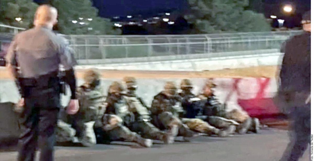 Detienen y liberan a 14 militares mexicanos