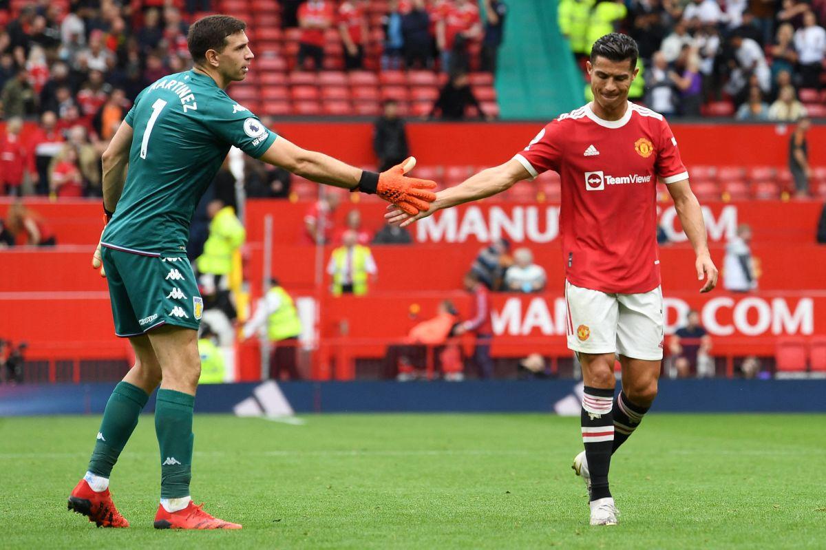 Emiliano Martínez y Cristiano Ronaldo protagonizaron una llamativa discusión.