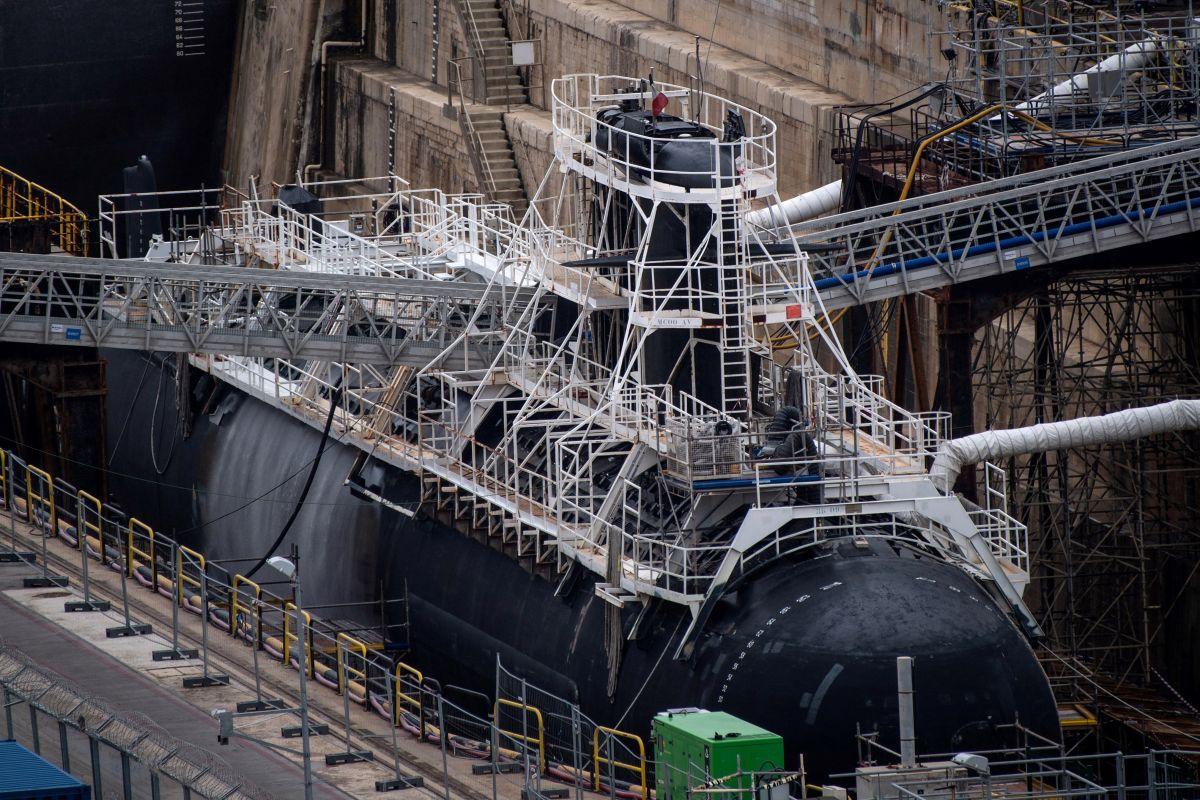 Un submarino de ataque de propulsión nuclear del ejército francés.