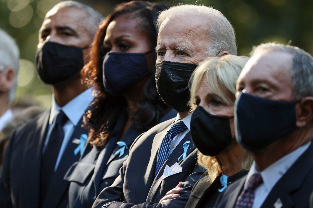 Barack y Michelle Obama, junto a Joe y Jill Biden en el acto en el Museo y Memorial Nacional del 9/11 en NY.