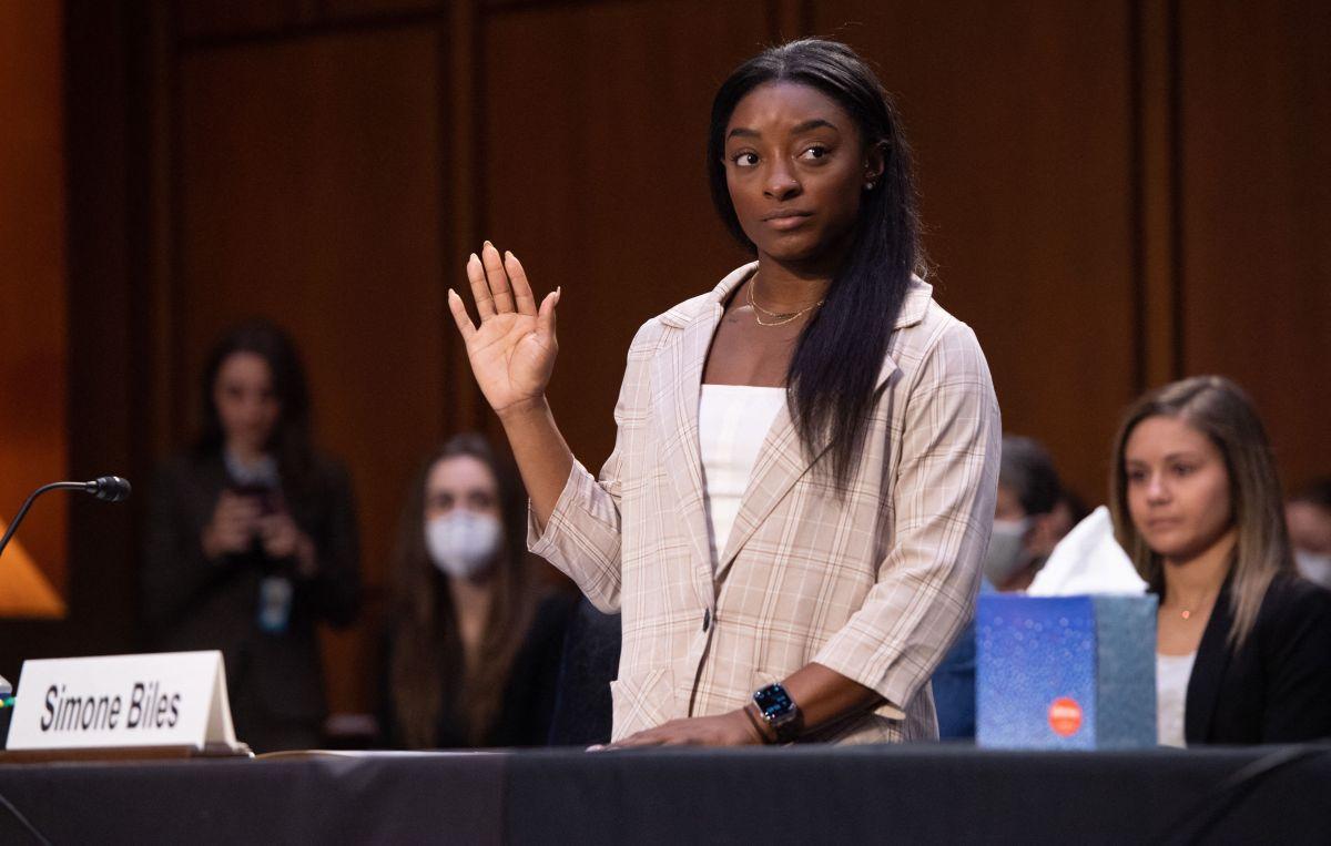 Simone Biles culpó a la federación y a un sistema entero de los abusos de Nassar.