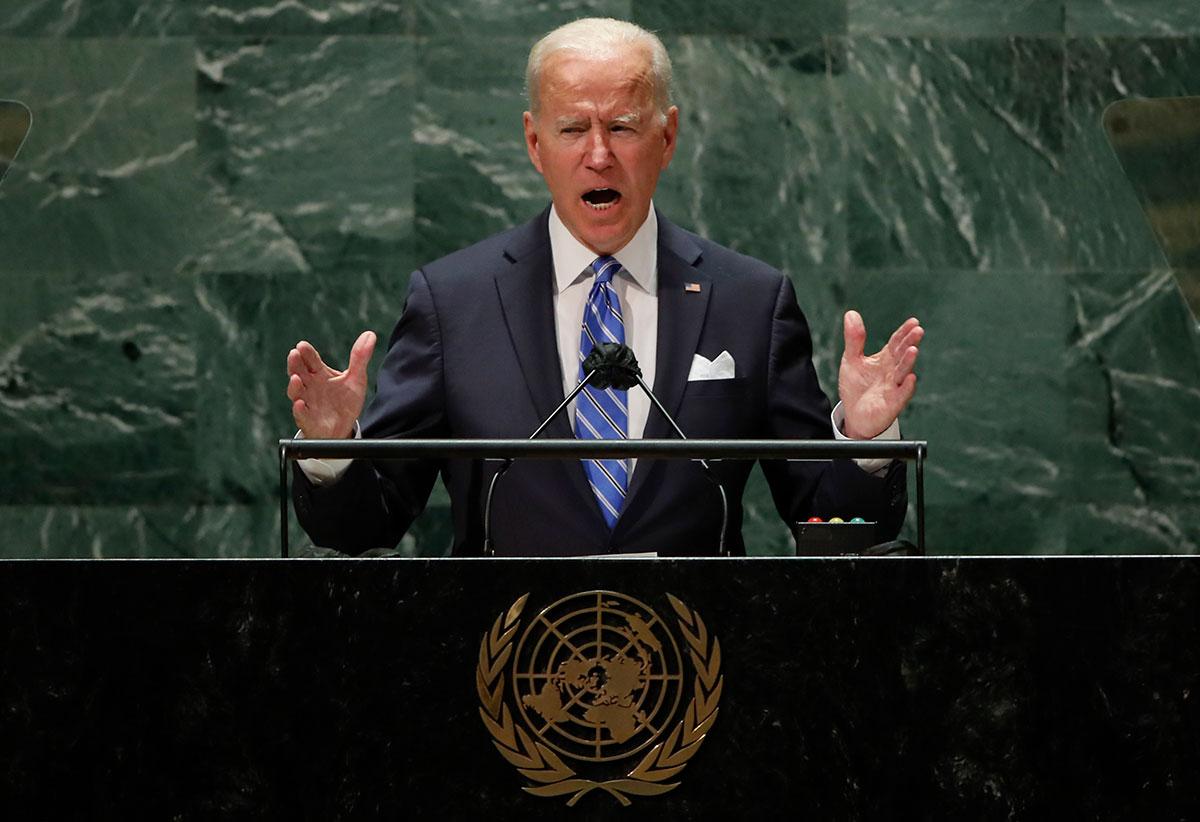 Joe Biden da su primer discurso ante la ONU en Nueva York.