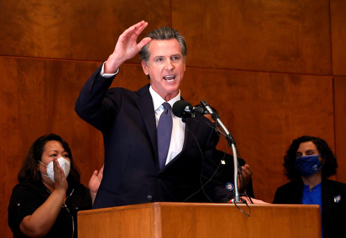 El gobernador Gavin Newsom recibió el respaldo de los votantes californianos.