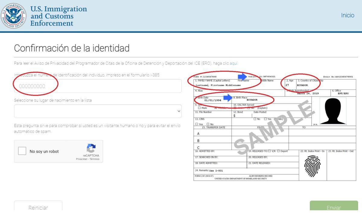 El nuevo sistema de citas es en español e inglés.