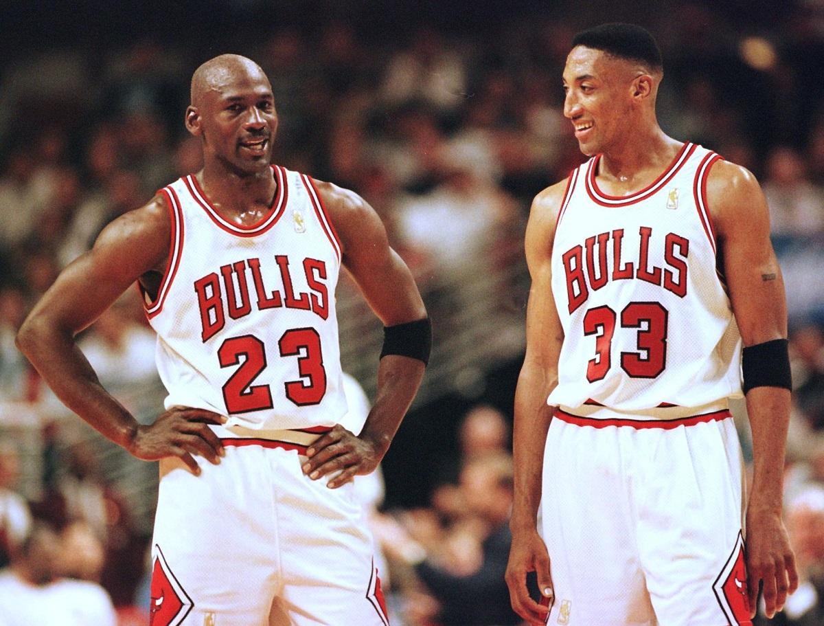 Uno de los duetos más temibles en la historia de la NBA, conformado por Jordan y Pippen.
