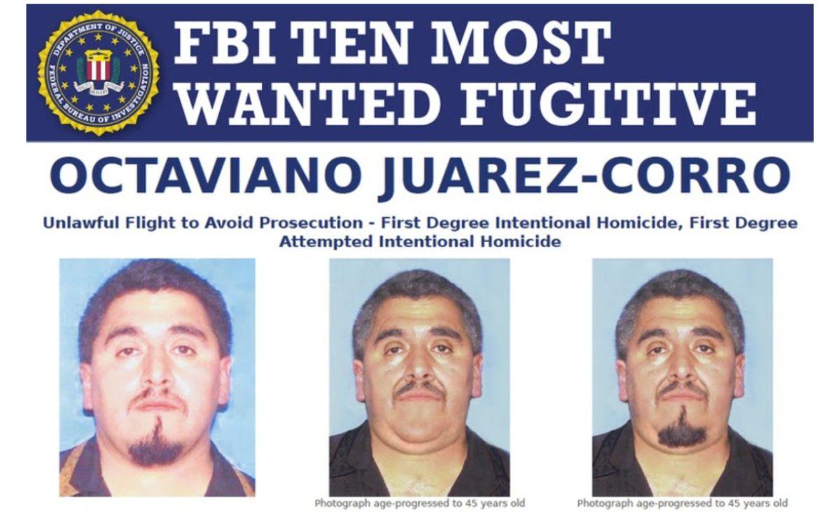 El FBI ofrece una recompensa por información para la captura de Octaviano Juarez-Corro.