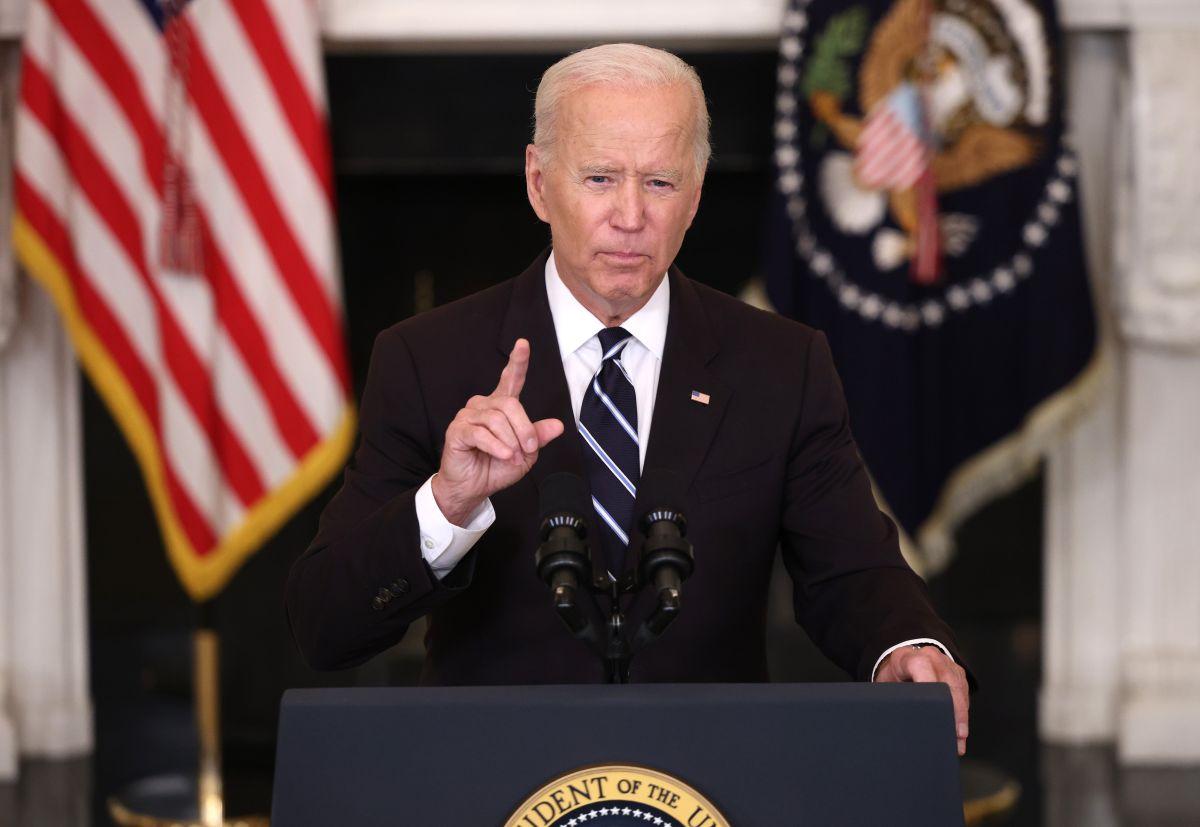 El presidente Joe Biden durante la presentación de sus seis pilares para combatir el virus