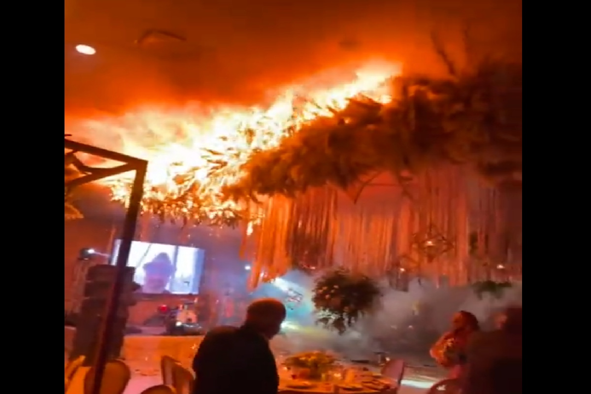 VIDEO: Pirotecnia provoca incendio durante boda de mexicanos