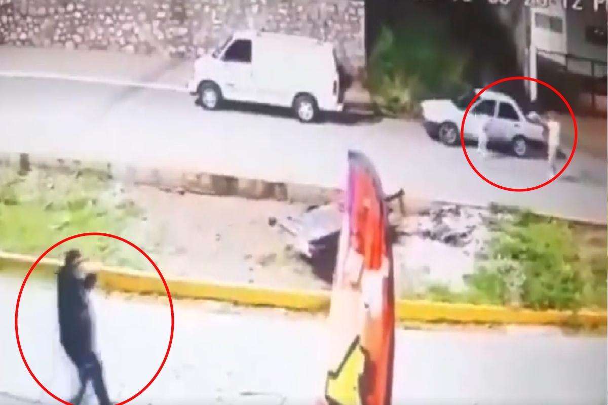VIDEO: Policía y su hermano son baleados y luego les dan el tiro de gracia