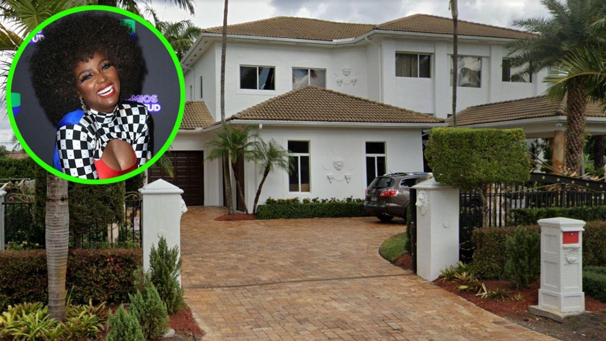 Amara La Negra presumió emocionada la mansión que le compró a su mamá en Miami.