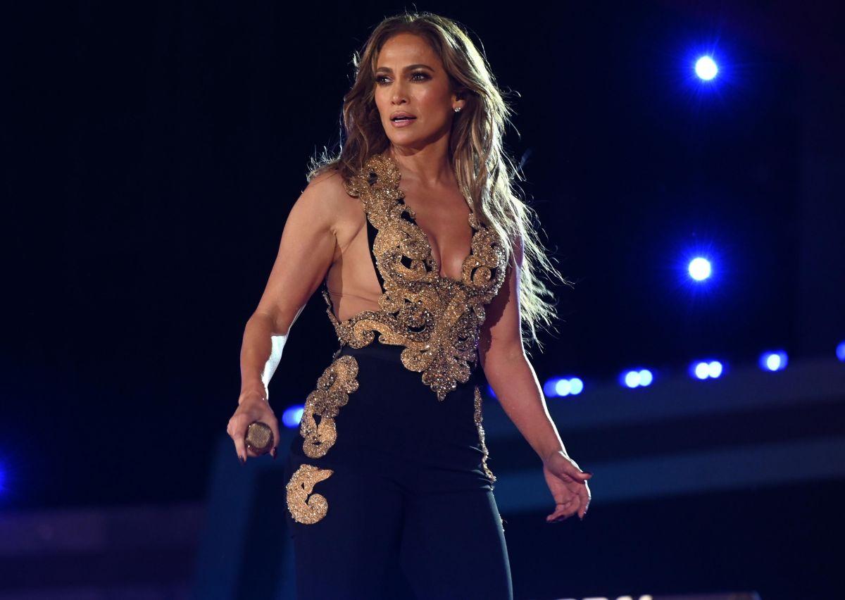 Jennifer Lopez en su presentación durante el festival Global Citizen 2021.