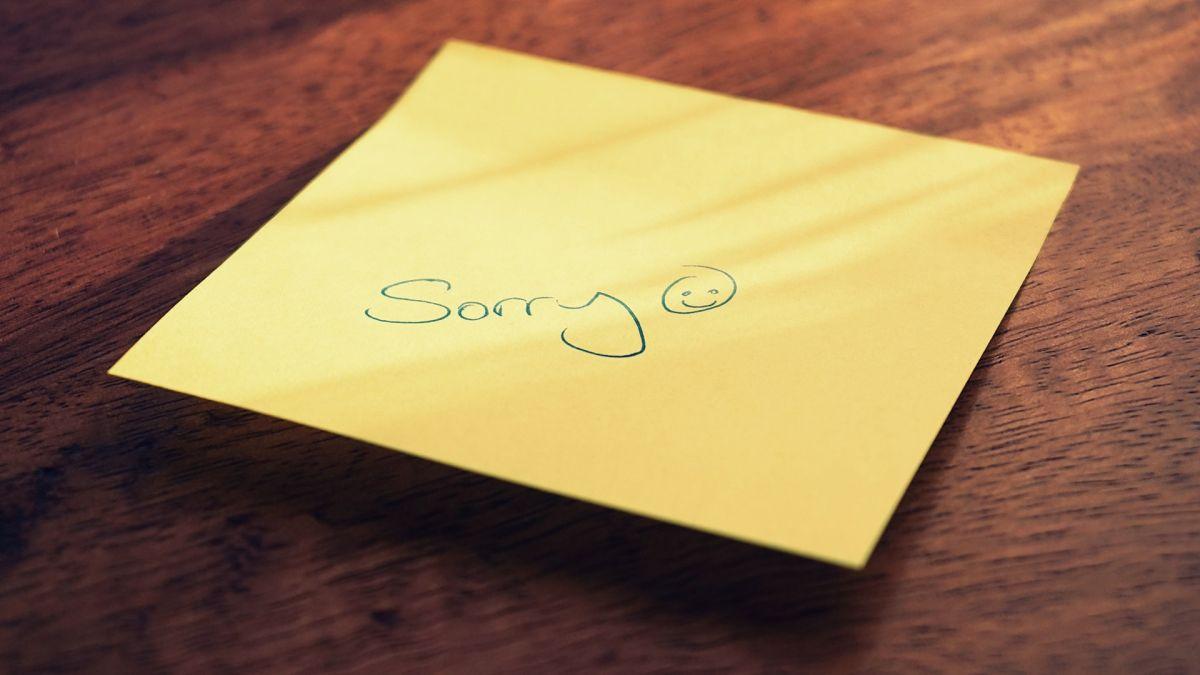 Disculparse puede ayudar a romper el mal karma de la mentira.
