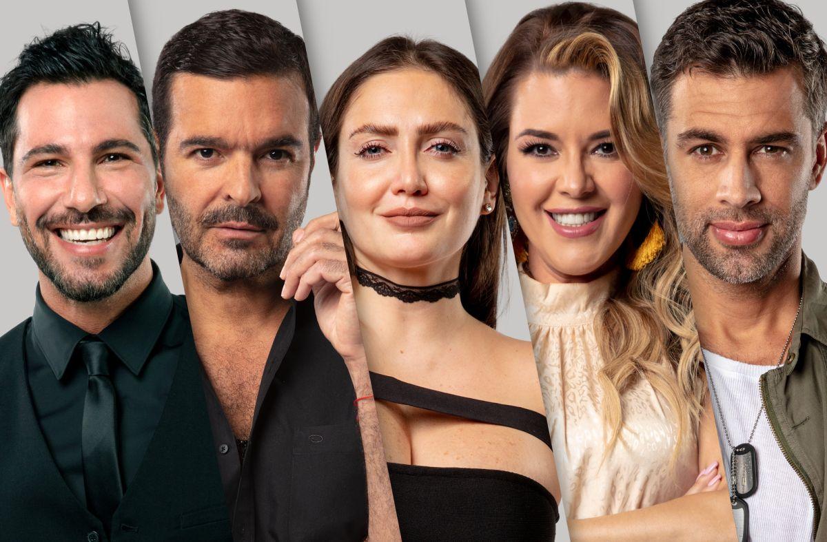 Uriel del Toro, Pablo Montero, Celia Lora, Alicia Machado y Christian de la Campa de 'La Casa de los Famosos'.