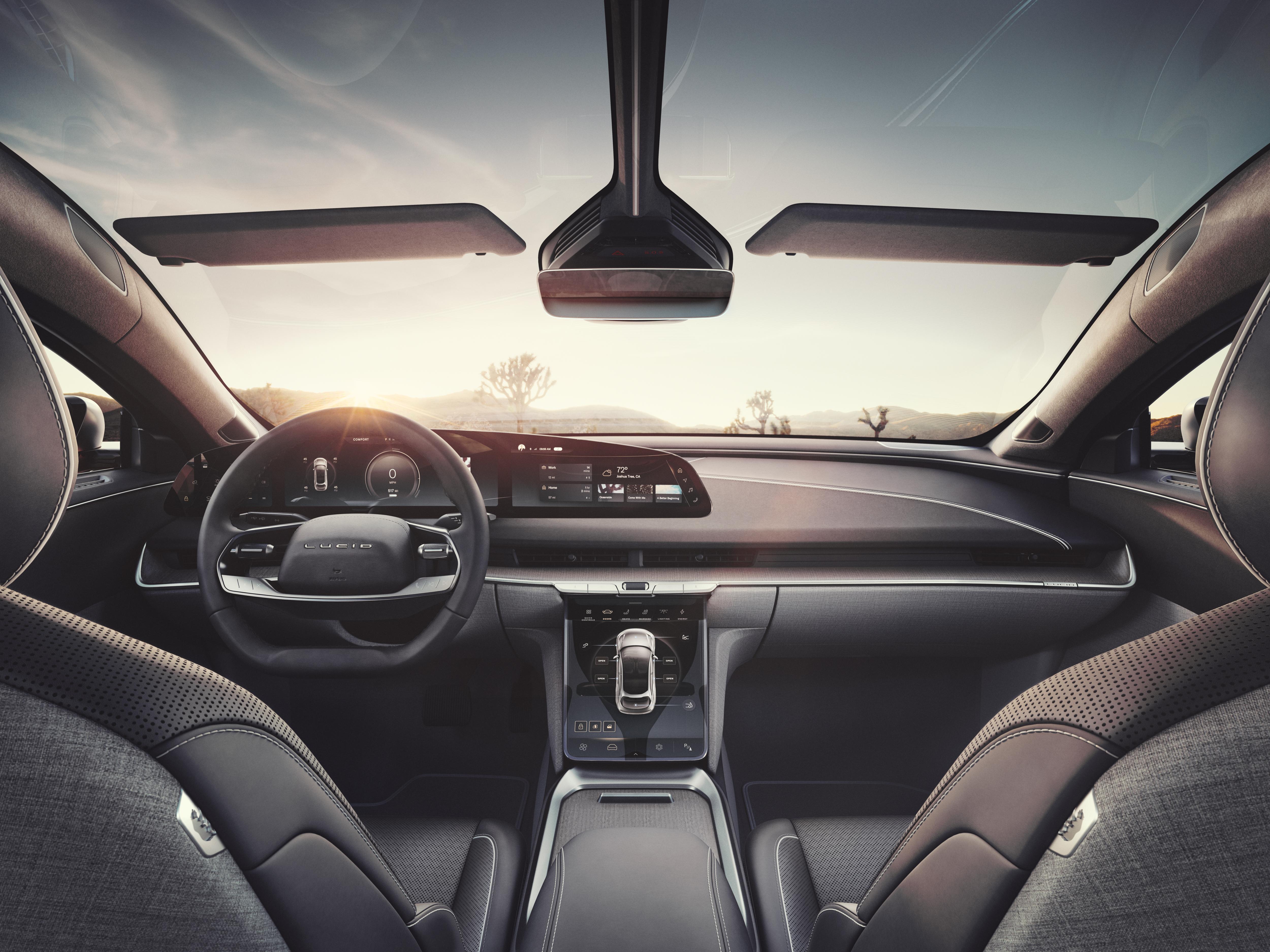 Foto del interior del Air de Lucid Motors