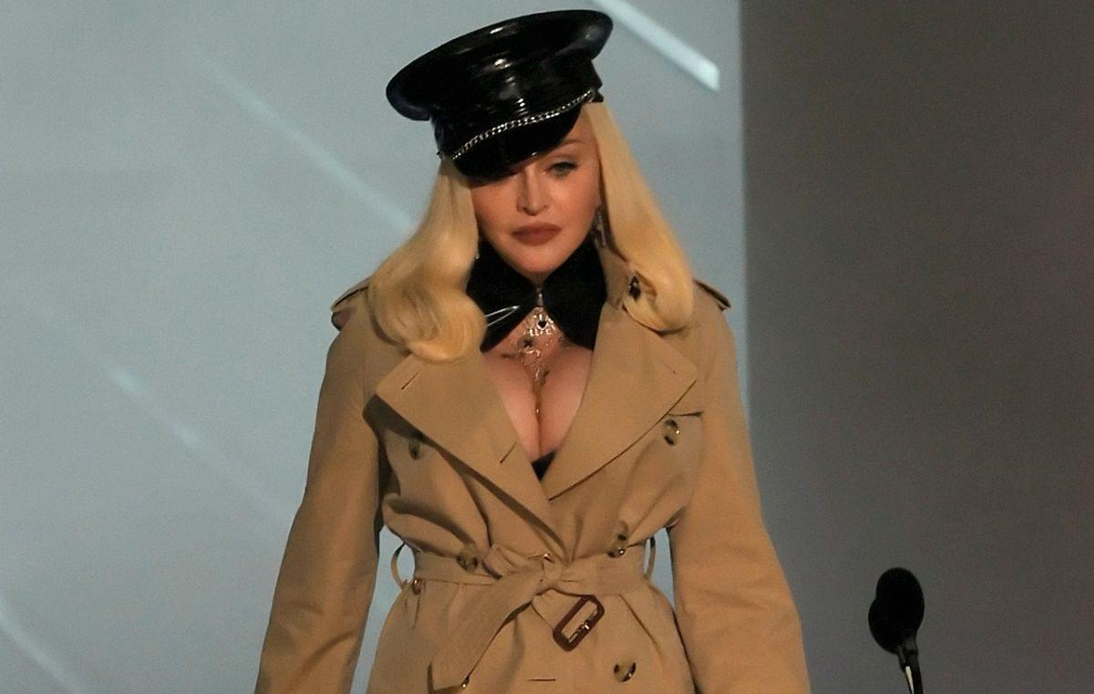 Madonna en los VMAs 2021.