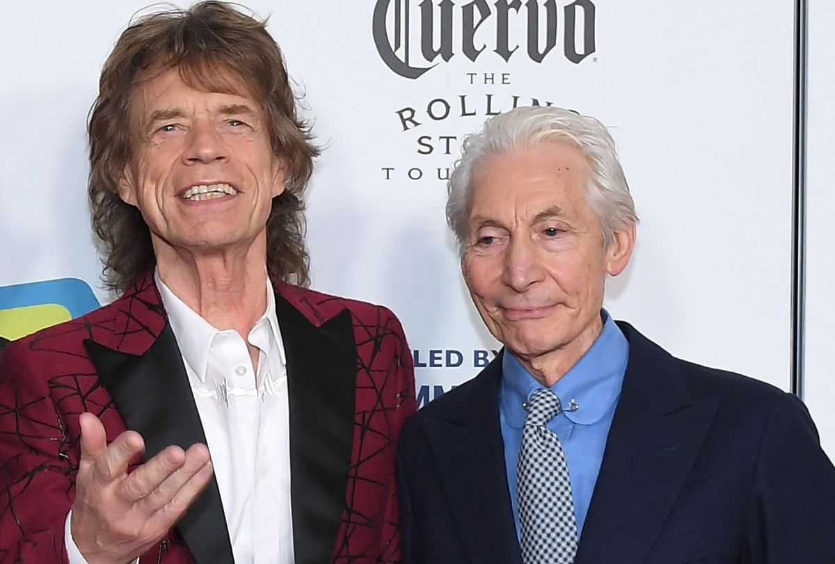 Mick Jagger y Charlie Watts.