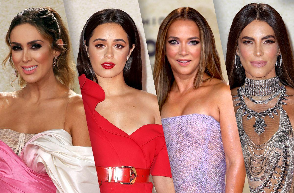 Jacky Bracamontes, Camila Cabello, Adamari López y Gaby Espino en la alfombra roja de los Premios Billboard 2021.