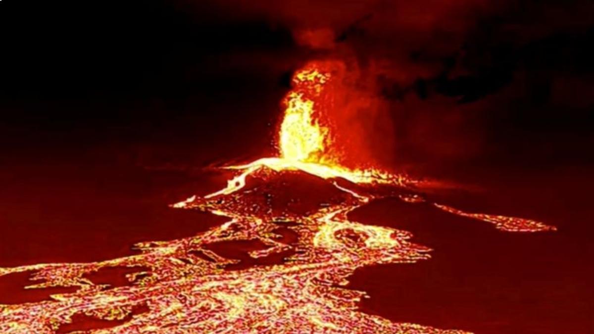 El volcán Cumbre Vieja en las islas Canarias.
