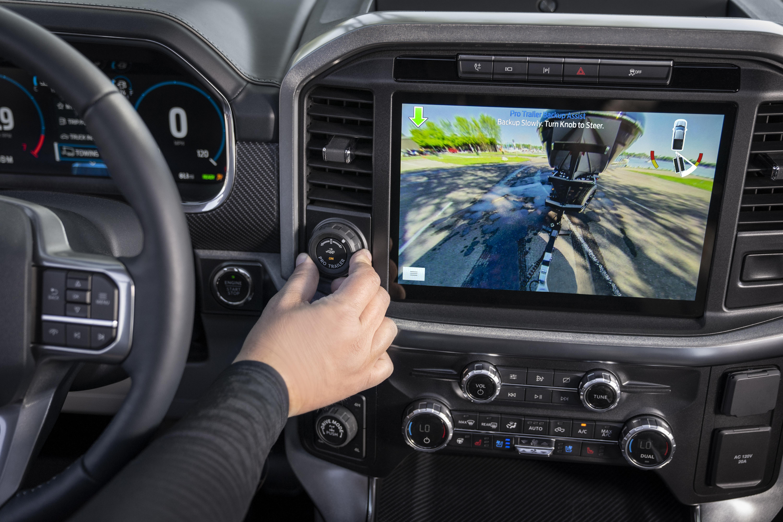 Foto del interior de la F-150 2021 de Ford
