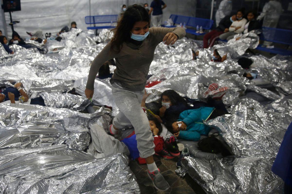 Albergue para migrantes en Texas.