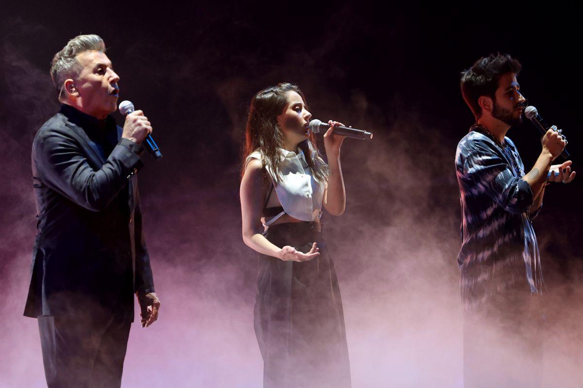 Ricardo Montaner, Eva Luna y Camilo.