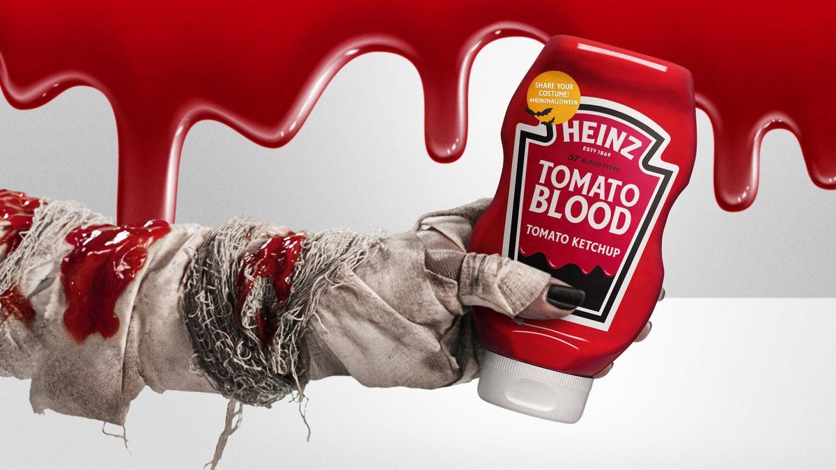 "Heinz lanza una edición especial de salsa de tomate ""Tomato Blood Ketchup""."