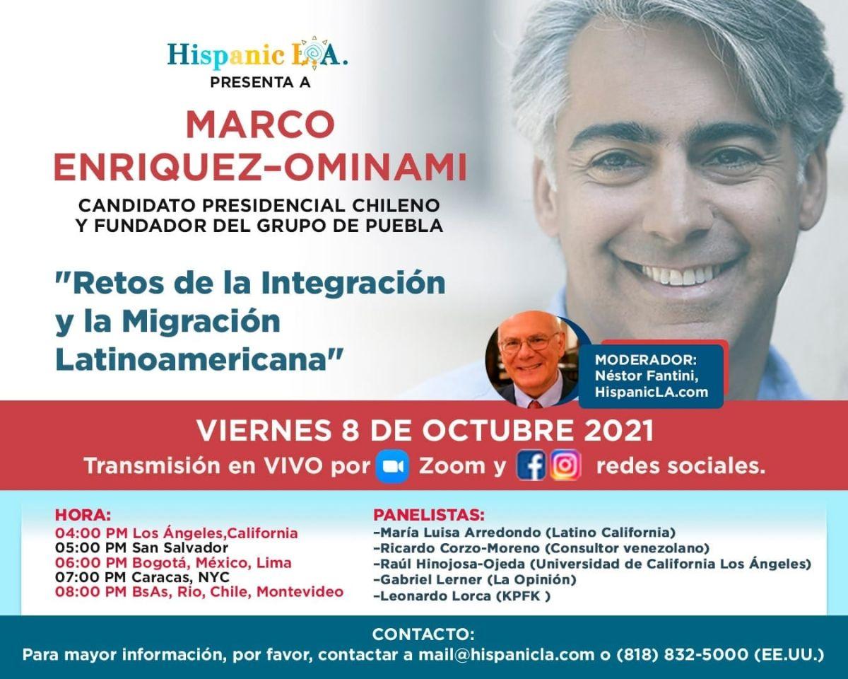 El Fogón de Hispanic LA: Chile y América Latina en Marco Enríquez-Ominami y un panel de lujo