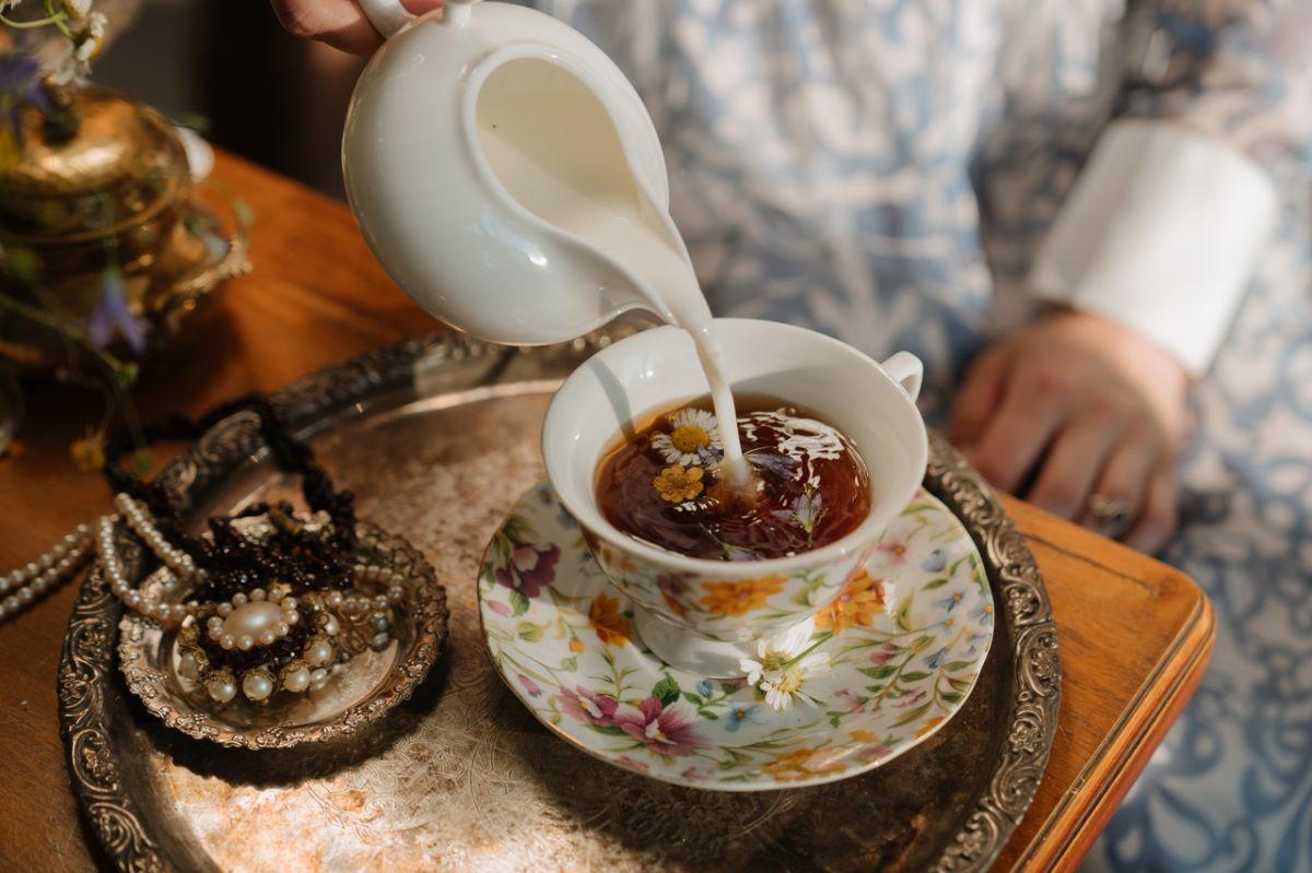 Why do the British add milk to tea