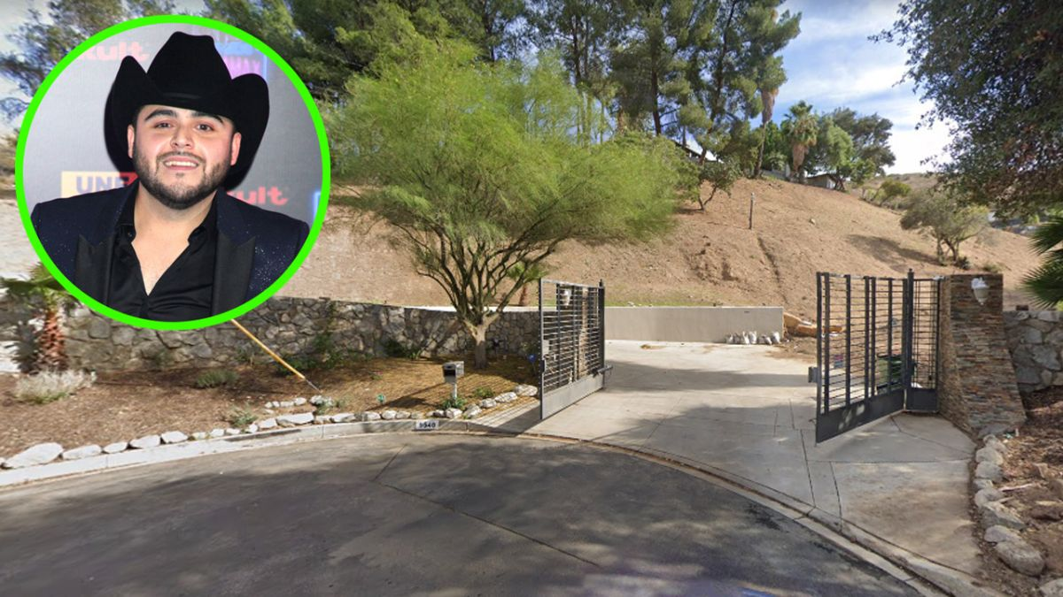 Do you remember her?  This was the ranch-style mansion of singer Gerardo Ortiz in California
