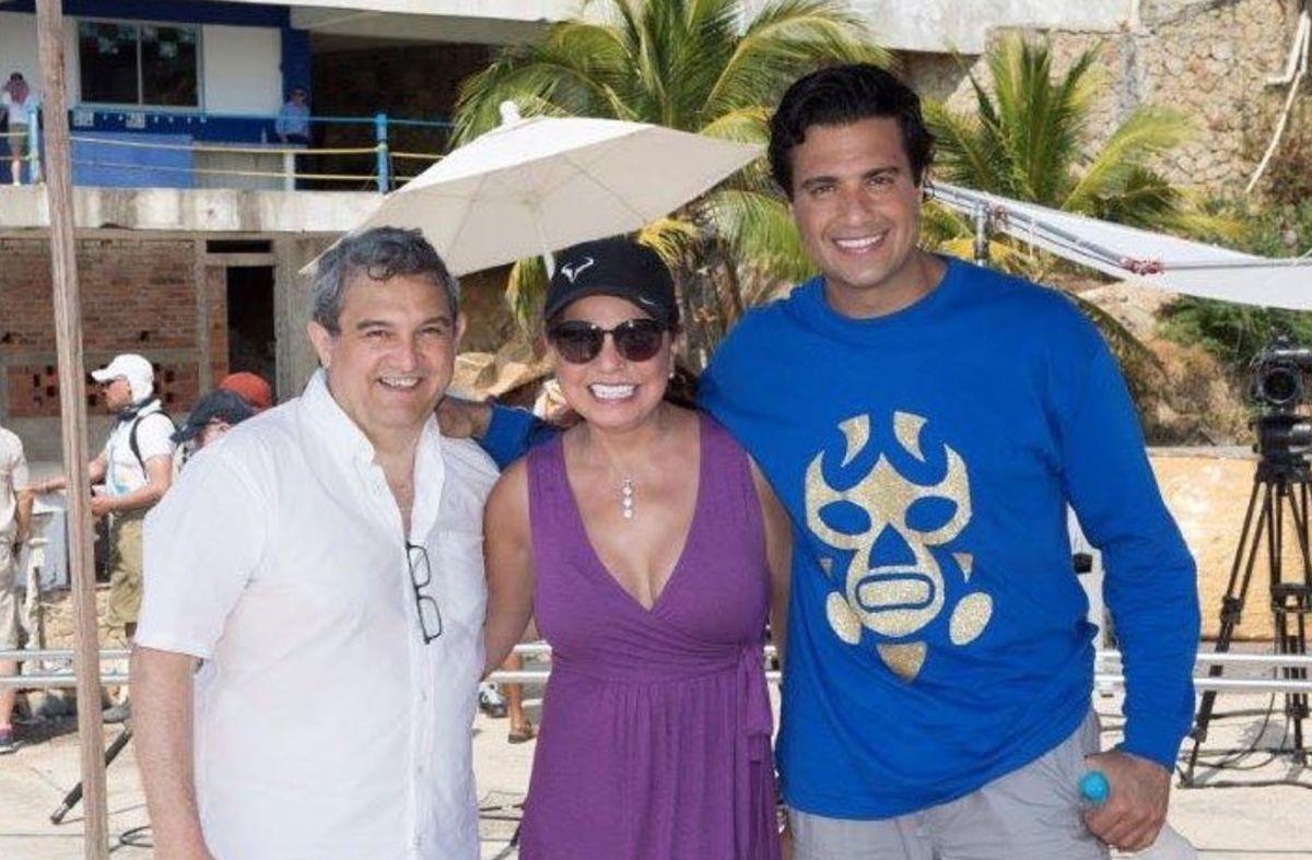 Eduardo Meza, Rosy Ocampo y Jaime Camil.
